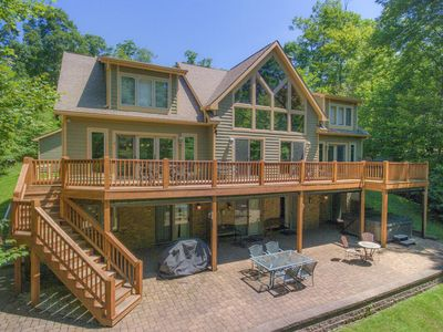 Photo for DOGS WELCOME! Lakefront w/Private Indoor Pool, Private Dock, & Hot Tub!