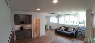 Photo for Modern and quiet in Wuppertal with home cinema projector and private parking!