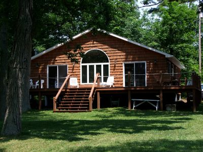 Photo for Elegant Chalet Style, Large Deck, Huge Spacious Green Yard, Riverfront