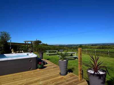 Remarkable view of the surrounding countryside from the shared garden area