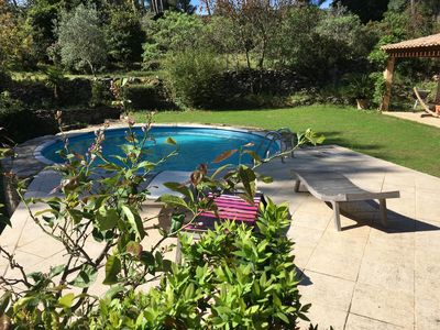 Photo for Villa 6p. swimming pool & clim, 4000M2 quiet garden on the heights