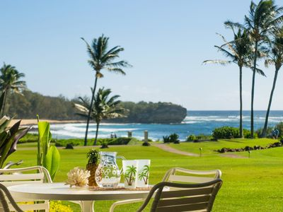Photo for Poipu Sands 513: Oceanfront, Short Walk To Beach Free Midsize Rental Car