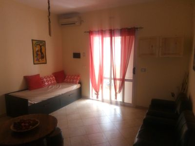 Photo for Beautiful apartment on the ground floor in the heart of Santa Maria, 5 minutes walk from the beach