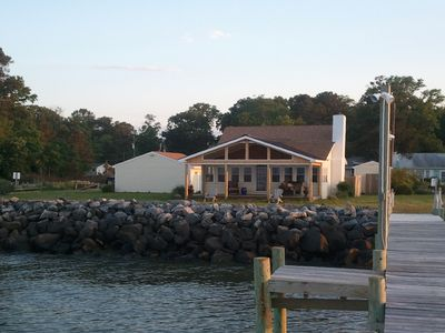 Photo for CHESAPEAKE BAY WATERFRONT & SAND BEACH 3BR HOME - FISH & CRAB OFF PIER