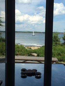Photo for Oceanfront Maine cottage with great views and tranquil setting