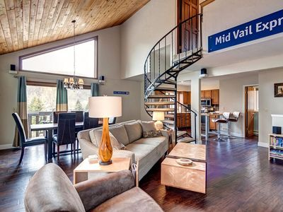 Photo for Elegant Vail Valley Townhouse steps from the Eagle Vail golf course.