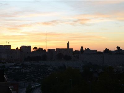 Sunrise over Old City from 1of the 2 balconies