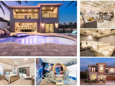 Photo for Luxury Reunion Villa with Cinderella Cariage bed and Star Wars Millennium Falcon bed and game room