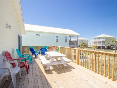 Photo for One story beachview w/ expansive deck!