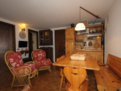 Photo for Casa in Montagna apartment in Courmayeur with private parking.