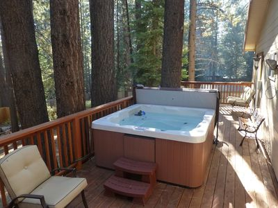 Photo for Charming Lake Tahoe Cabin in the Woods With HOT TUB!- Close to Beach and Skiing