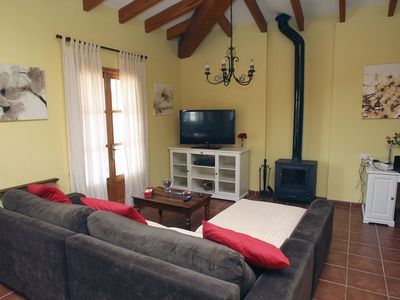 Photo for This 4-bedroom villa for up to 8 guests is located in Caimari and has a private swimming pool, air-c