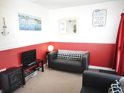 Photo for Family friendly chalet on Perran Sands holiday park, close to the beach!