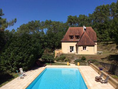 Photo for Idyllic setting in 1.6 ha of woodland just 2.5km from the centre of Montignac