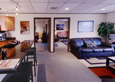 Spacious rooms give you and your guests room to spread out alittle.