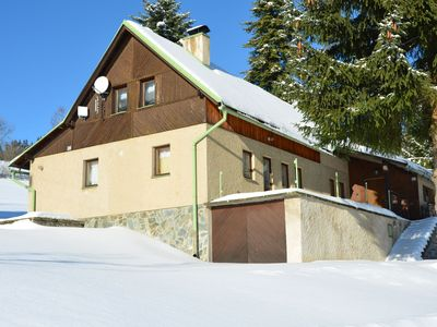 Photo for Holiday Home on Ski-Slope in Vítkovice with Terrace & Garden