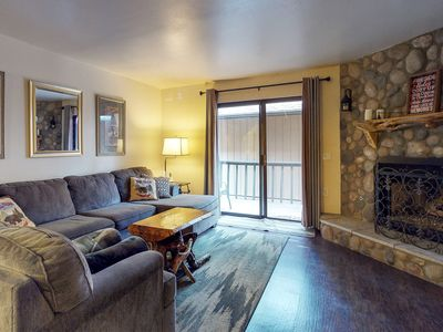 Photo for NEW LISTING! Comfortable condo w/ private deck, full kitchen, and foosball table