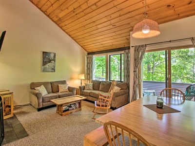 Photo for NEW! Village of Loon Mtn Condo w/Fireplace+Balcony