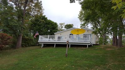 Back of Cottage and Decks