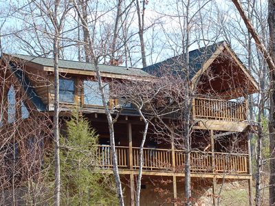 Photo for On Site Pool, Putt Putt, Golf, Fishing, Hiking & More at no extra charge!! Cabin only 5mi to town!