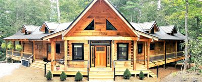 Photo for A private mountain getaway, a new log cabin designed for all your vacation needs