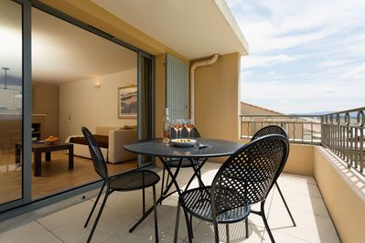 Open the door and step out onto your private balcony or terrace - let us know what you prefer!