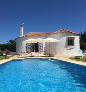 Photo for Country Villa with large lawned garden & private Pool: 10 minutes from beach