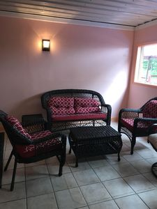 Enjoy this quaint sitting area in our indoor pool.