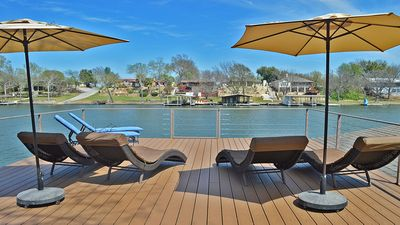 Upper deck of boat house w/gorgeous views of the lake!