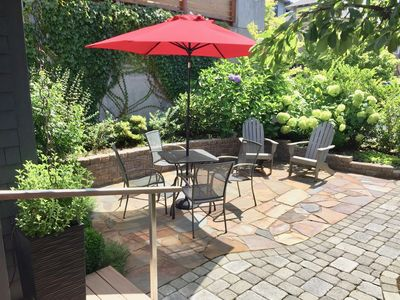 Enjoy the sunny south-facing patio for meals or just relaxing.