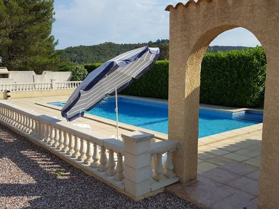 Photo for Les Ecologies for 8, 2 gites with pool with views over Cessenon sur Orb Village