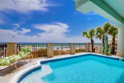 Take a dip in your PRIVATE GULF FRONT POOL
