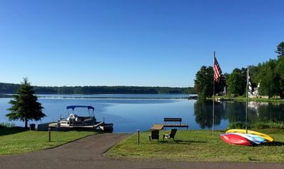 Our private launch and dock for our guests; with kayaks and more...