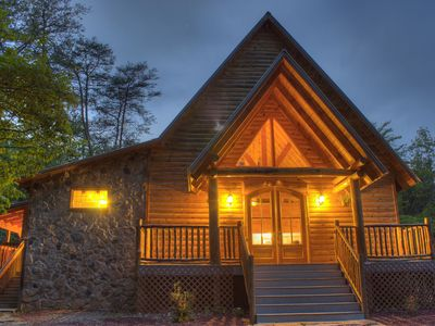 Photo for Secluded Chapel Cabin | 1BR 2 BA | Jacuzzi Tub | Hiking Trails | Fire Pit