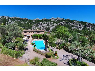 Photo for Luxury villa to rent, Pollensa, with large pool sleeps 14