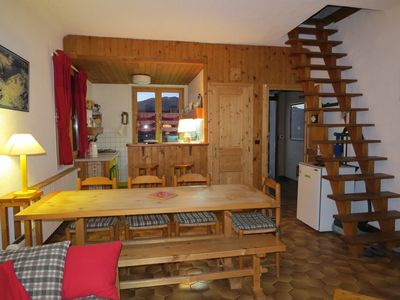 Photo for Semi-Chalet Family, semi-detached, La Plagne-La Roche, slopes and chair lift 250m