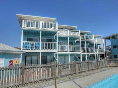 Photo for Riggings H2: Oceanfront Condo, with Great Views, a Community Pool and Beach Access.