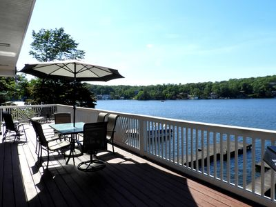Photo for Lake House on spectacular Byram Bay deep end of the lake with private dock