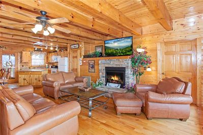 A Diamond In The Sky - Living Room with Fireplace