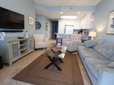 Photo for Book Hangout Now! Luxurious Beachfront! ~ Park on the same floor! ~ 1BR+Bunk
