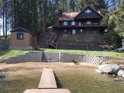 Photo for Waterfront Home with 22' Private Sand Beach on Lake Cd'A