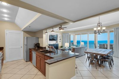 Open concept floor plan with spectacular Gulf views!
