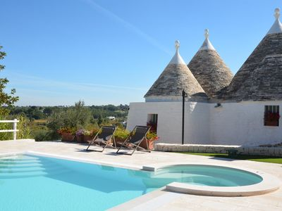 Photo for Trullo Il Fragno Beautiful trulli immersed in the valley of the Itria Valley