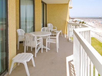 Photo for Oceanfront second-floor villa just steps from the beach w/ balcony & shared pool