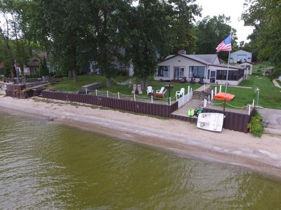 Photo for Waterfront Spacious(12 people)Home With Rare Sandy Beach & Spectacular Sunsets!