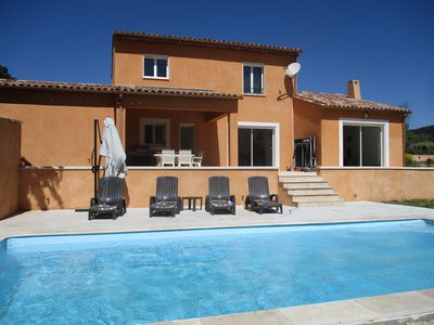 Photo for Beautiful recent and spacious holiday home with swimming pool in beautiful surroundings.