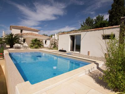 Photo for Villa with stylish interior and magnificent view over Draguignan (Provence)