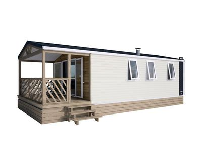 Photo for Camping La Chanterelle *** - Mobil Home Loggia Bay 3 Rooms 4 People facing the lake