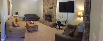 Family/living area.  2 Pull out sofas and 1 extra large comfy futon
