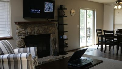 The living room has a 47' LED Internet TV with cable.  WiFi throughout.